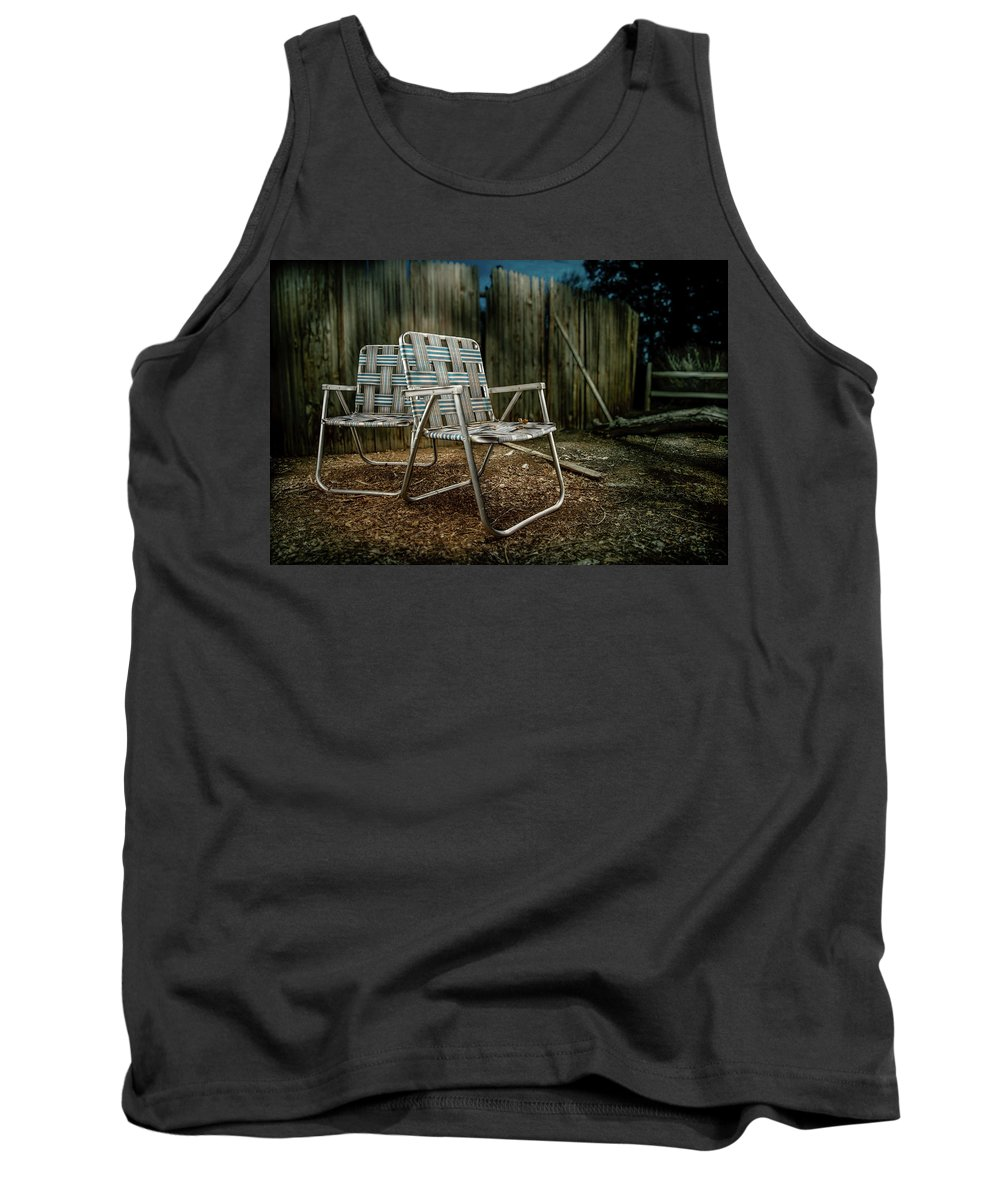 Art Tank Top featuring the photograph Ribbon Chairs by YoPedro