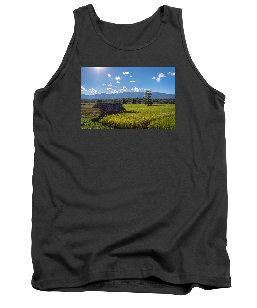 Mountain Tank Top featuring the photograph Rice Fields Of Thailand by Nomadic Ninja Negativs