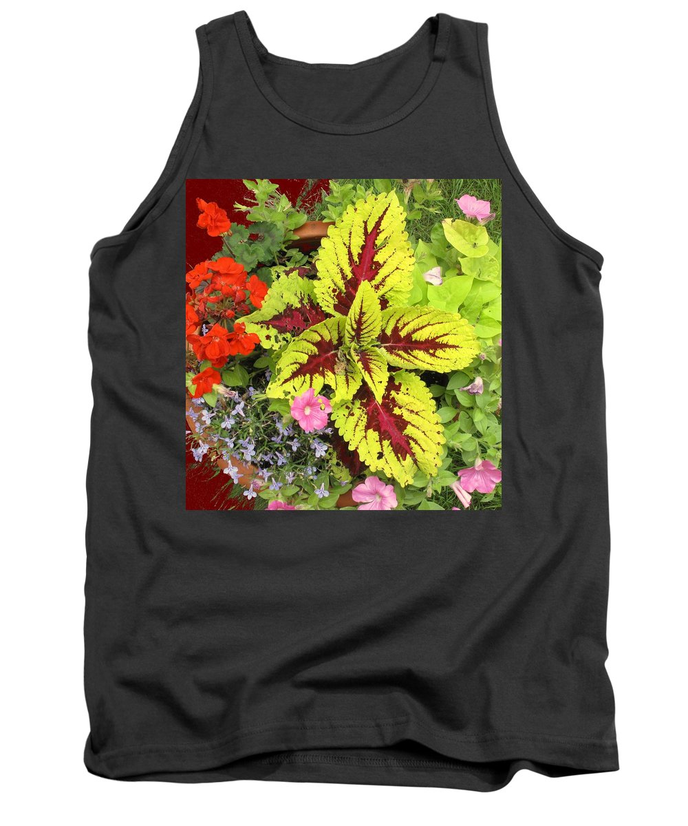 Flowers Tank Top featuring the photograph Rich Pattern by Ian MacDonald