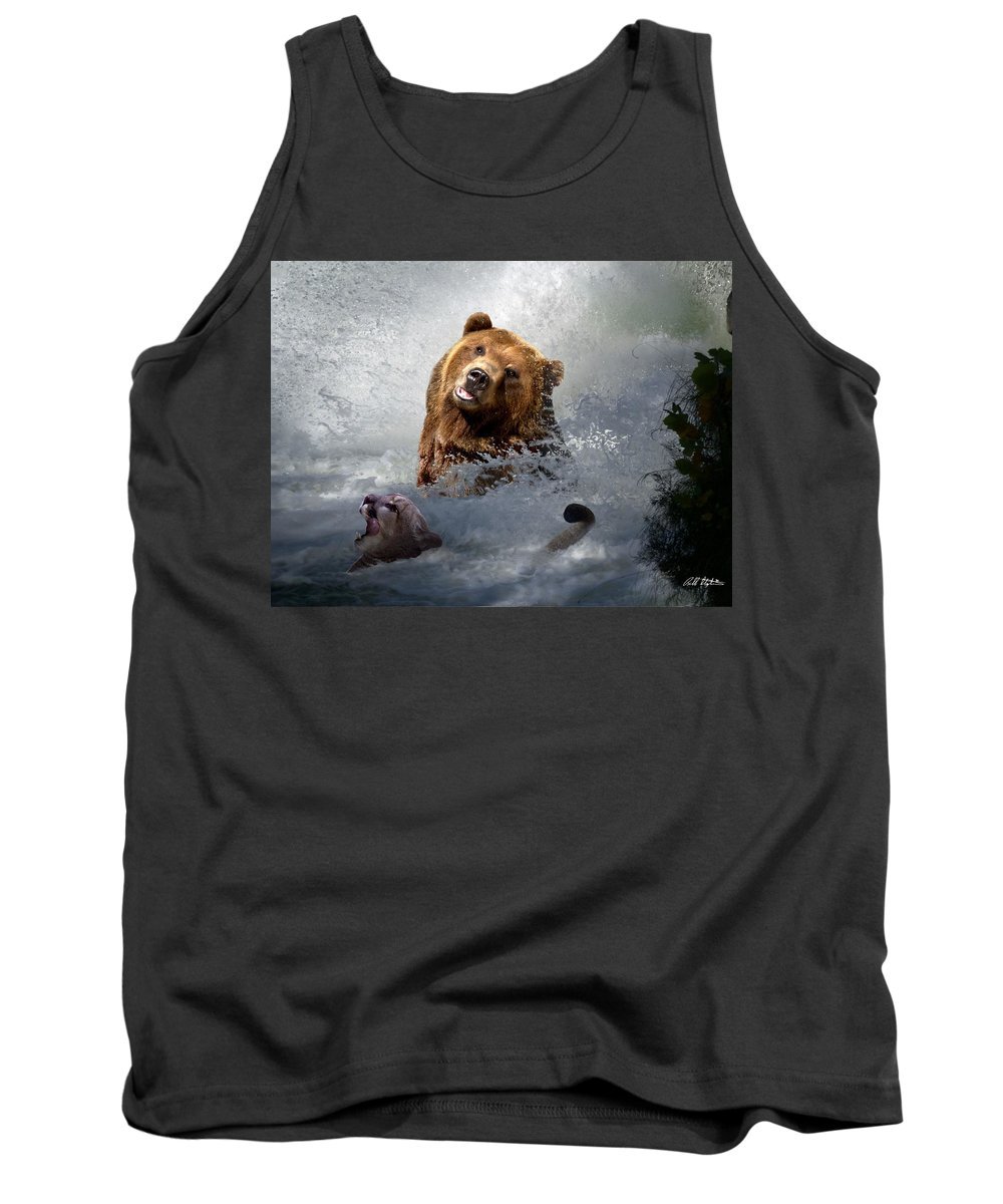 Bear Tank Top featuring the digital art Riding The Gauntlet by Bill Stephens