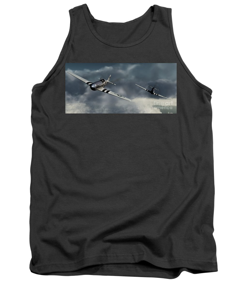 Warbirds Tank Top featuring the digital art Riding The Storm by Richard Rizzo