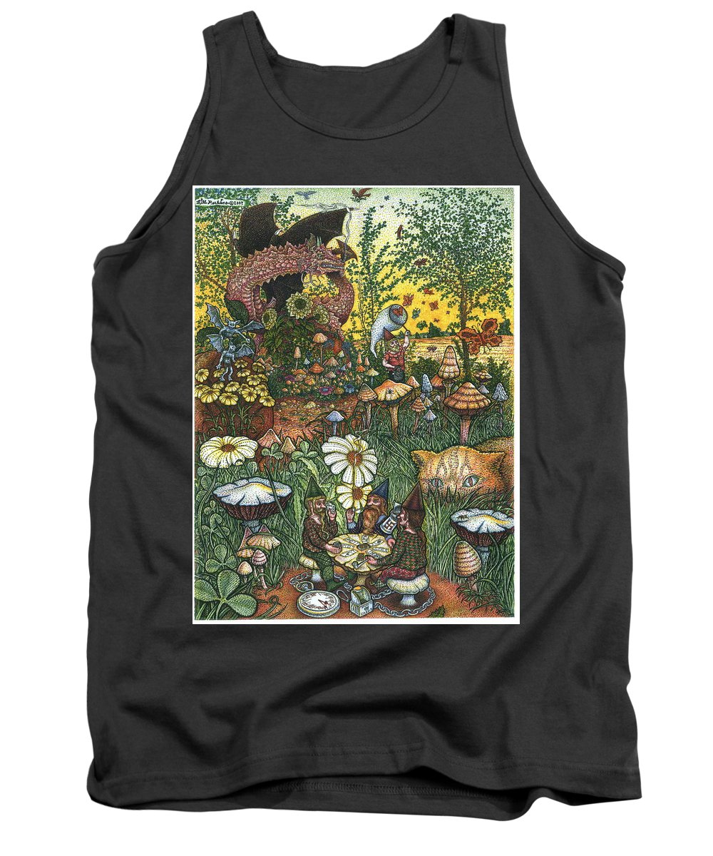 Landscape Tank Top featuring the drawing Ring Cycle by Bill Perkins