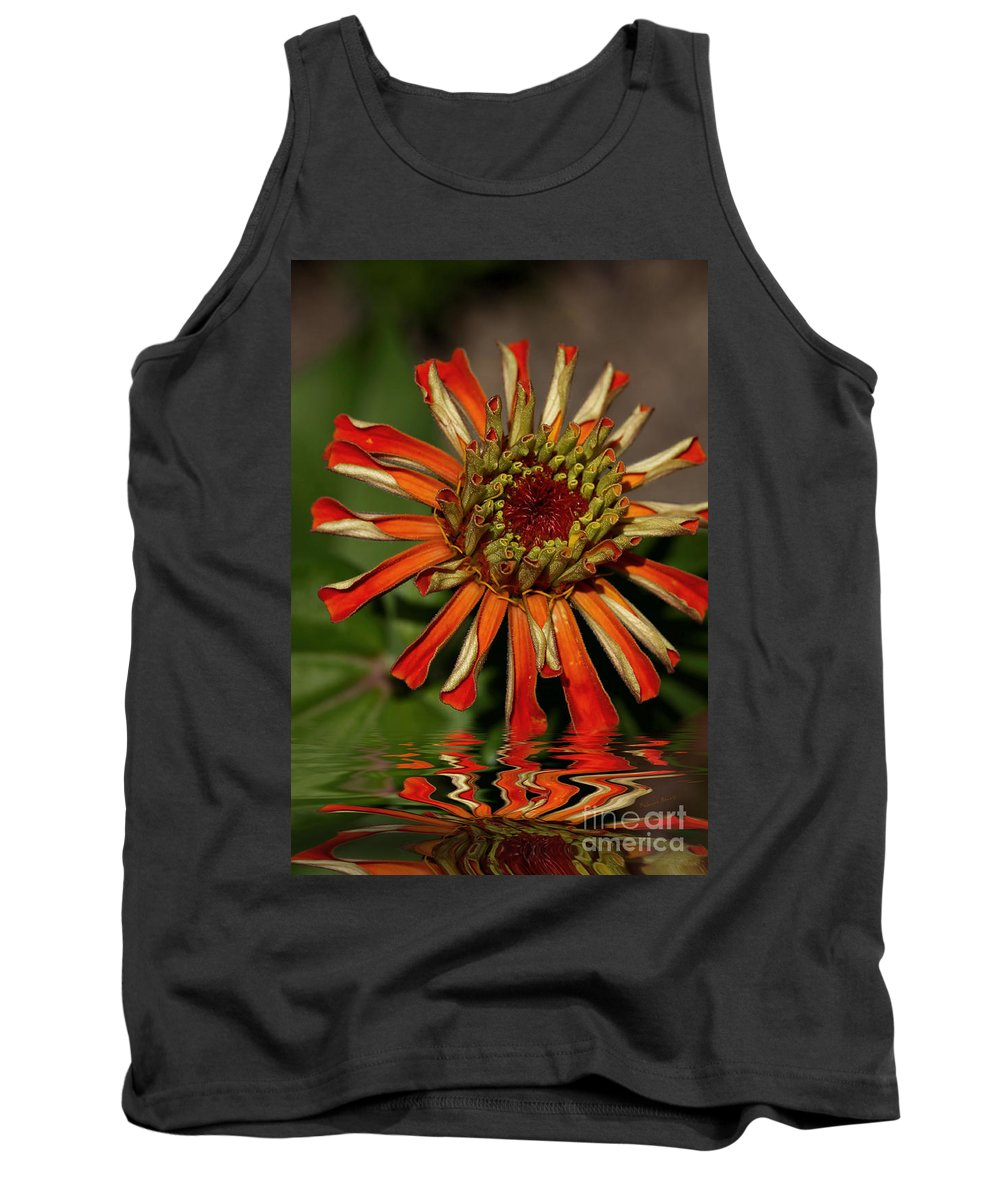 Flower Tank Top featuring the photograph Ripples Of Orange by Deborah Benoit
