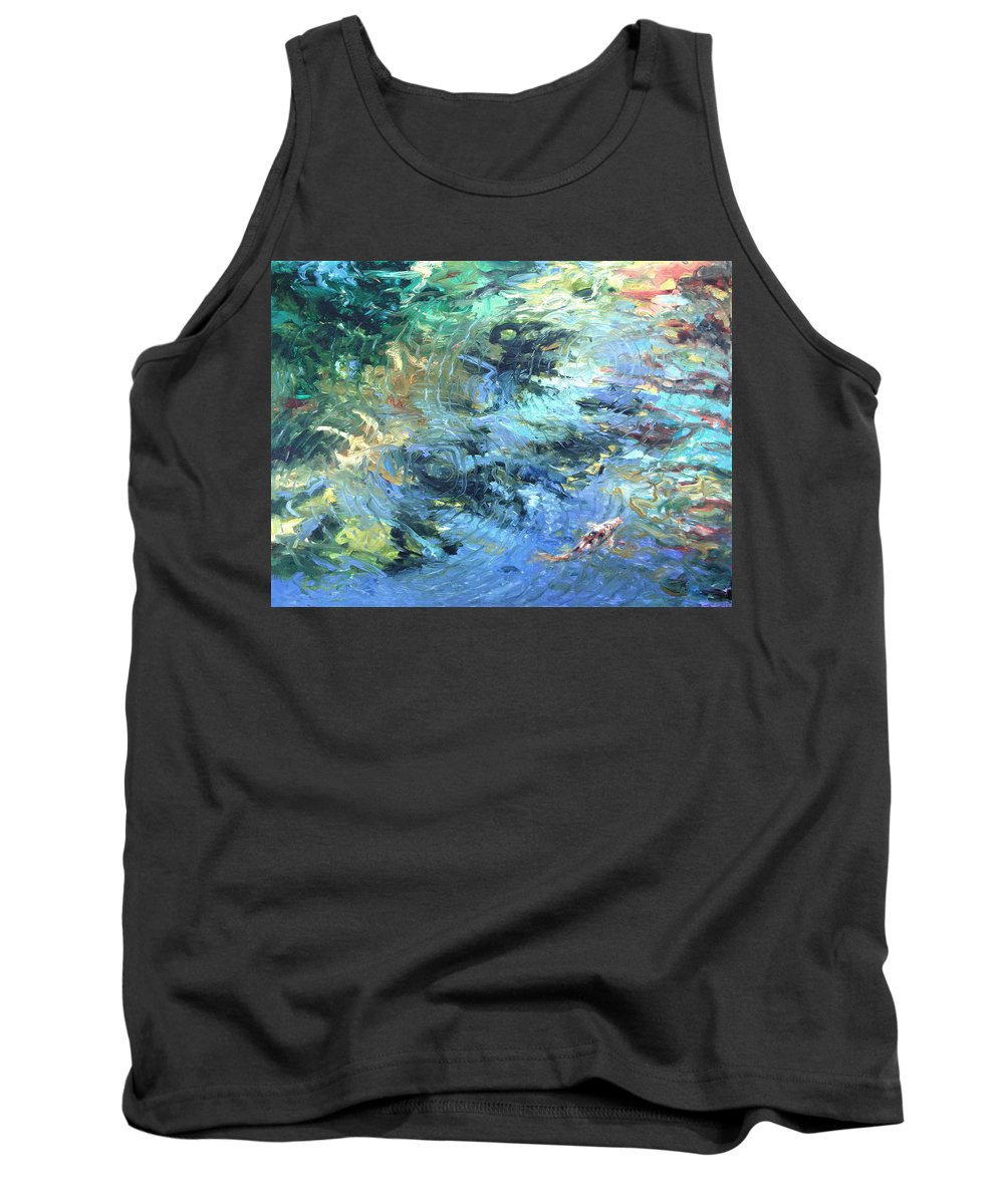 Marine Tank Top featuring the painting Reef by Rick Nederlof