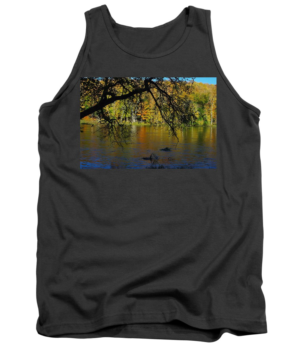 Fall Tank Top featuring the photograph River In The Fall by Alice Markham