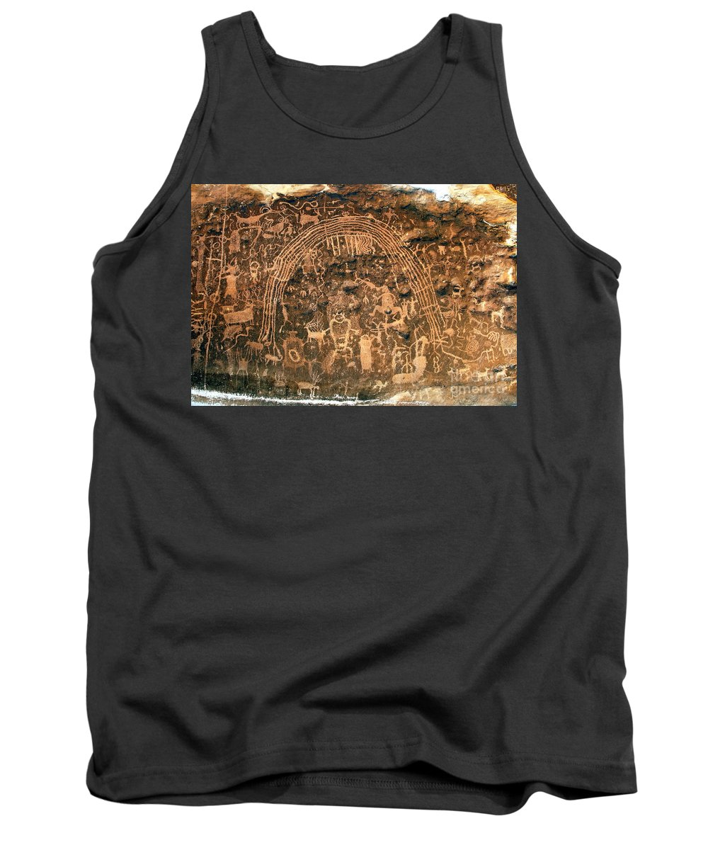 Petroglyphs Tank Top featuring the photograph River Of Dreams by David Lee Thompson