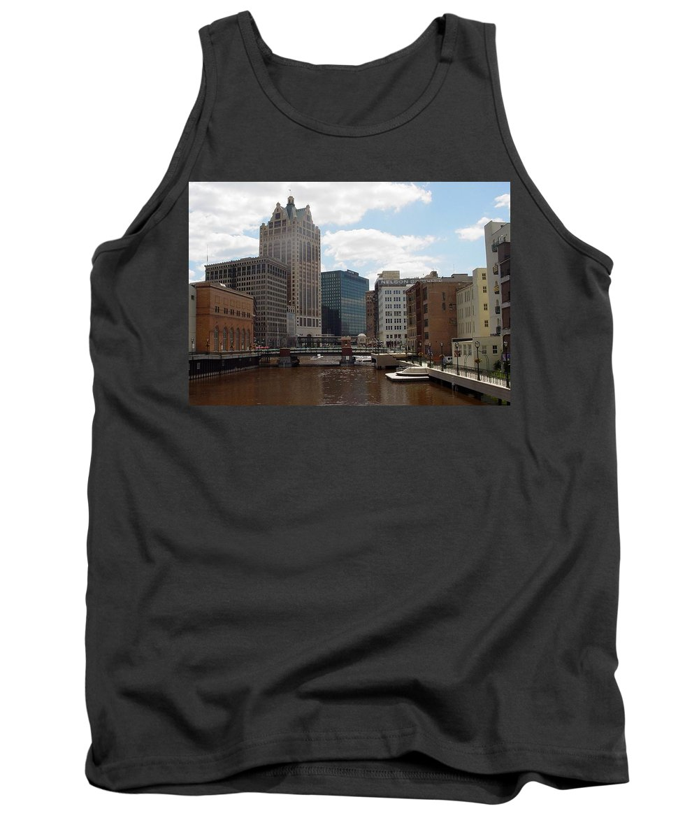 Milwaukee Tank Top featuring the photograph River View by Anita Burgermeister