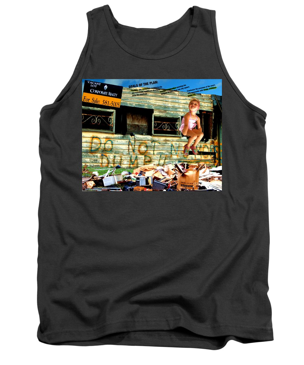Riverfront Development Tank Top featuring the photograph Riverfront Visions by Ze DaLuz