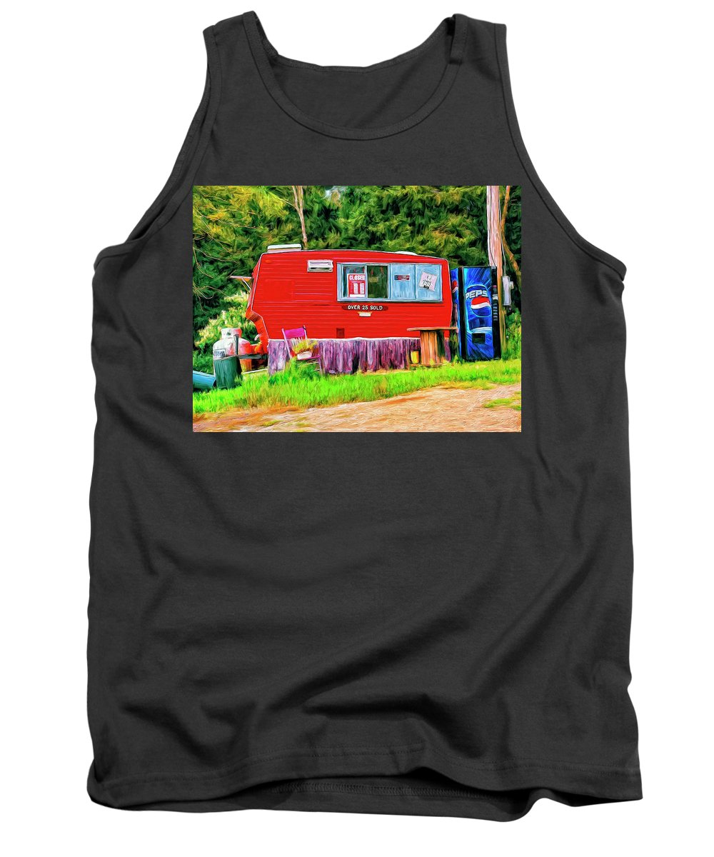 Roach Coach Tank Top featuring the painting Roach Coach by Dominic Piperata