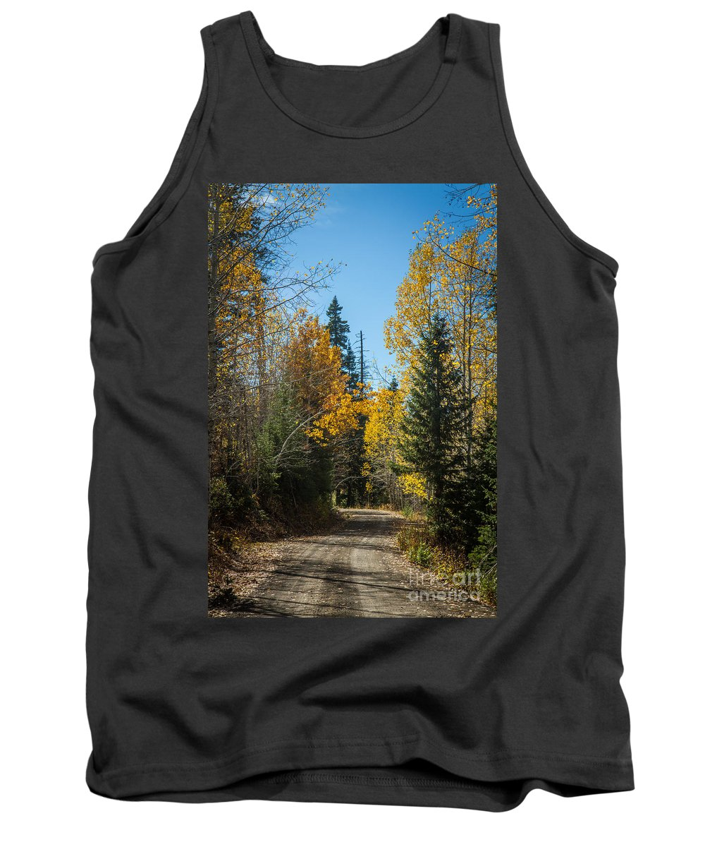 Autumn Tank Top featuring the photograph Road To Fall Colors by Robert Bales