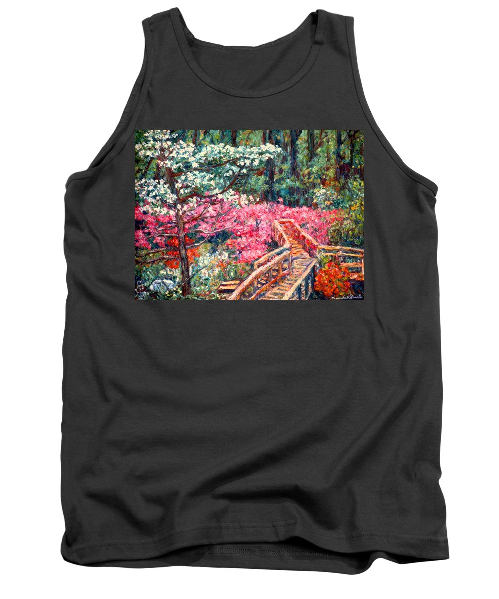 Garden Tank Top featuring the painting Roanoke Beauty by Kendall Kessler