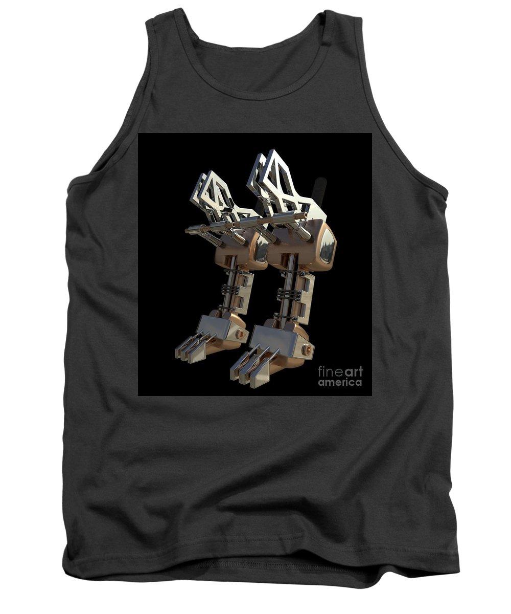 Unity Tank Top featuring the digital art Robotic Limbs by John Stenning