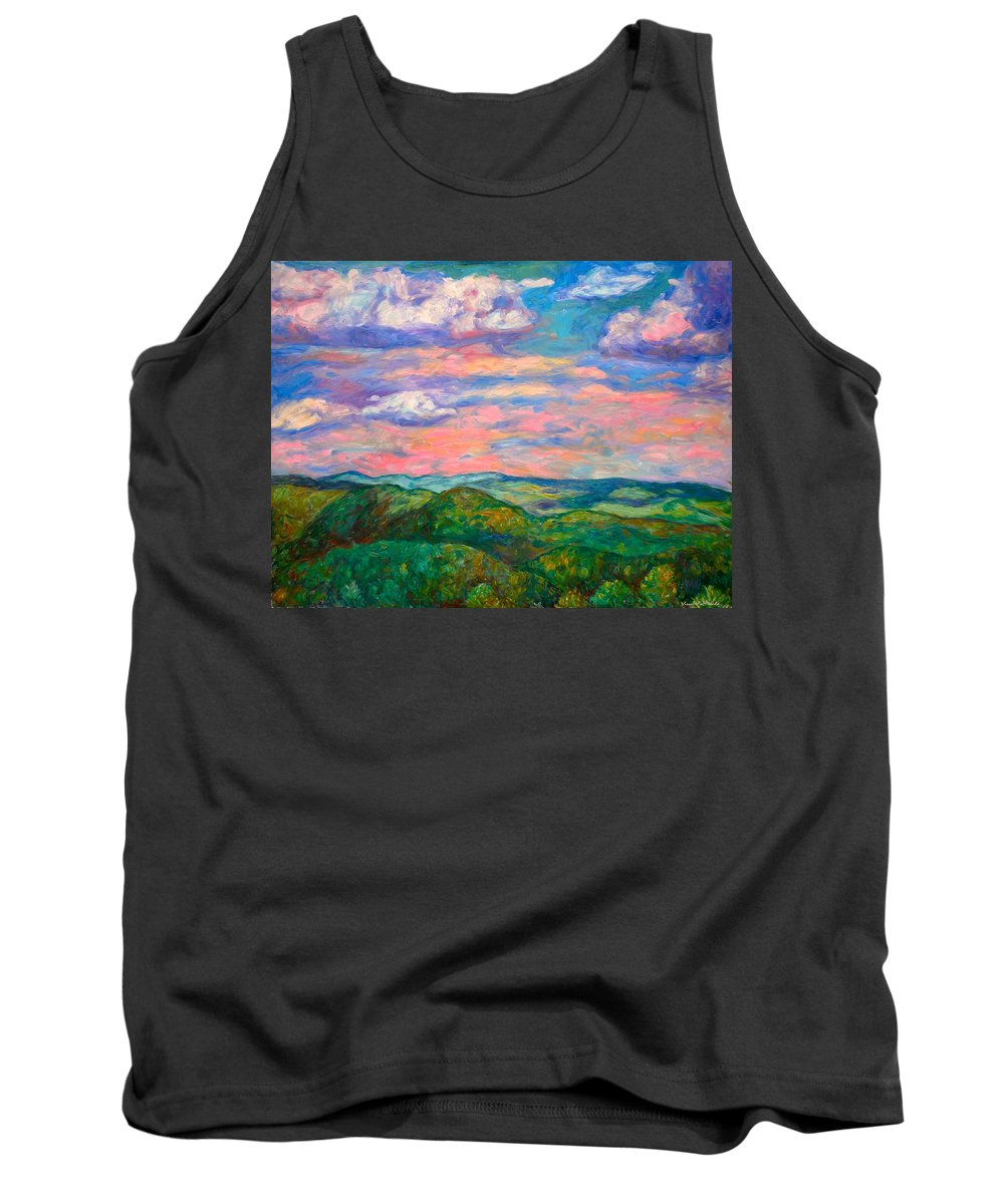 Landscape Paintings Tank Top featuring the painting Rock Castle Gorge by Kendall Kessler