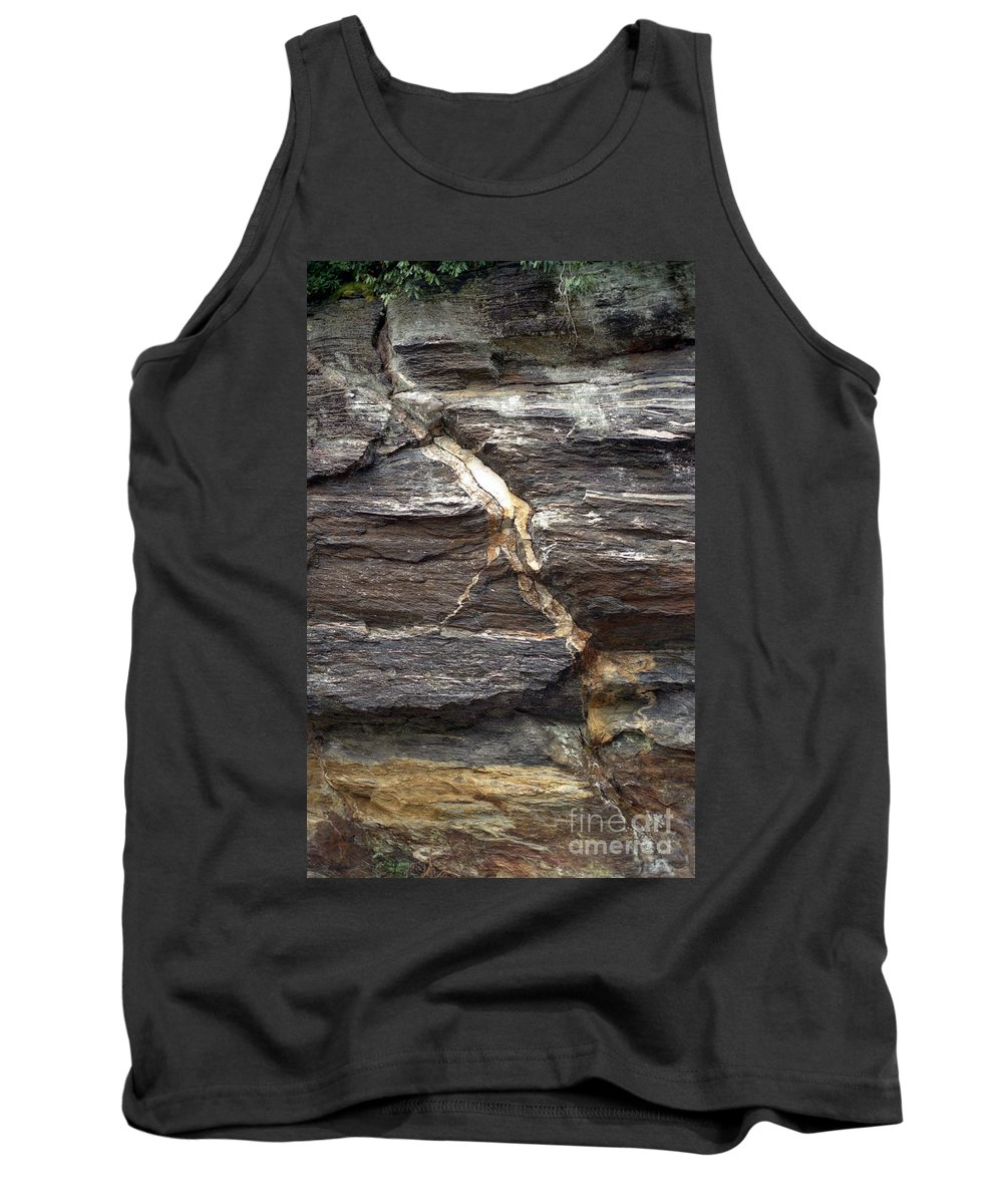 Rock Face Tank Top featuring the photograph Rock Face by Richard Rizzo