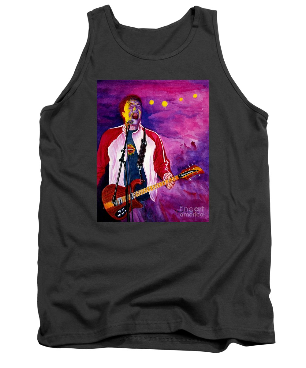 Rock And Roll Tank Top featuring the painting Rock On Tom by Nancy Cupp