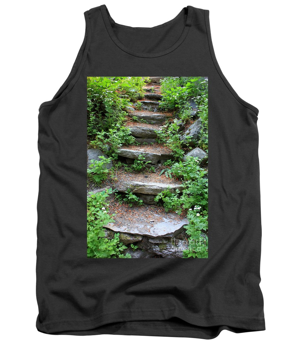 Rock Stairs Tank Top featuring the photograph Rock Stairs by Carol Groenen