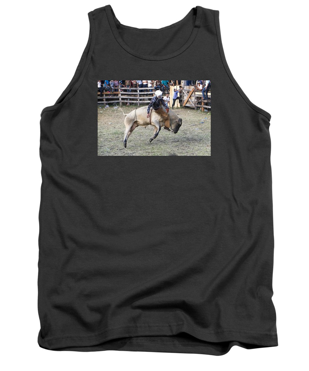 Bull Tank Top featuring the photograph Rocking The Bull by Eline Van Nes