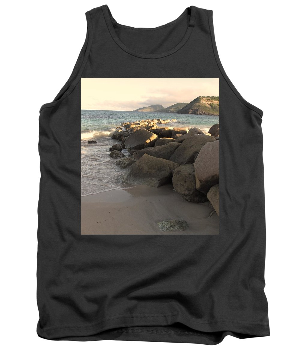 Boulders Tank Top featuring the photograph Rocks And Hills by Ian MacDonald