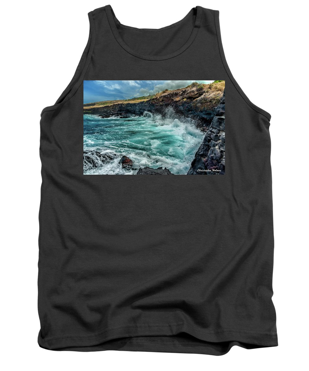 Hawaii Tank Top featuring the photograph Rocky Coast by Christopher Holmes
