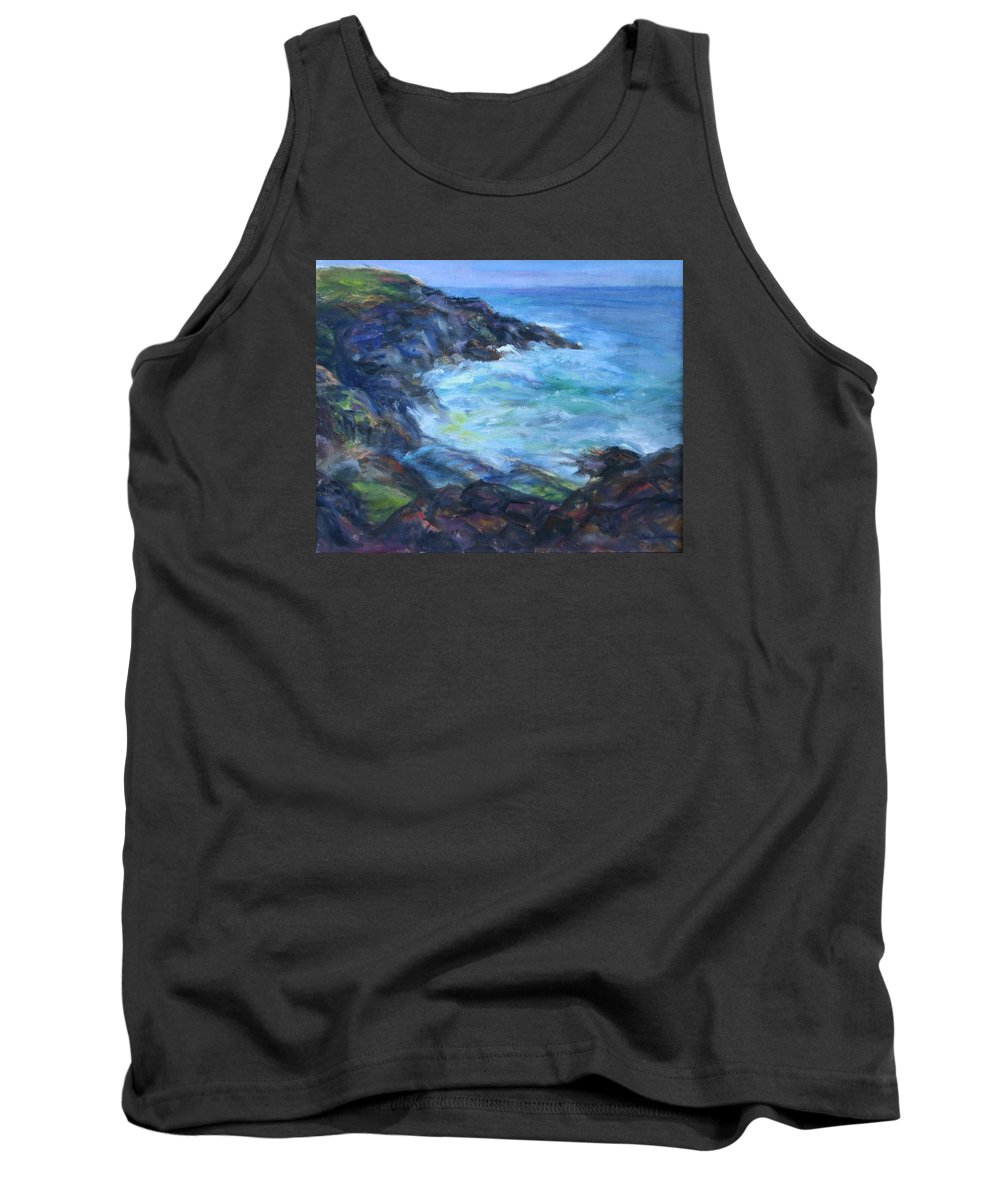 Quin Sweetman Tank Top featuring the painting Rocky Creek Viewpoint by Quin Sweetman
