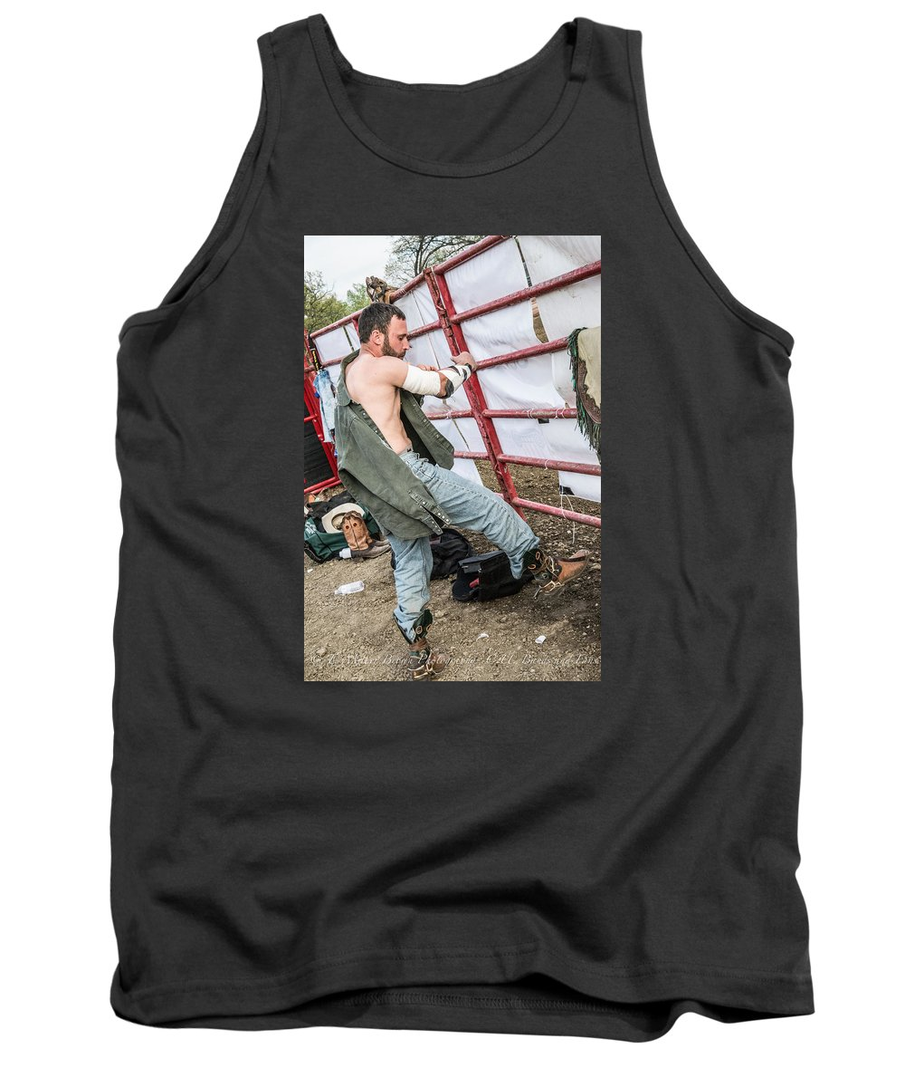 University Of Illinois Rodeo Club Tank Top featuring the photograph Rodeo by Terry Brown