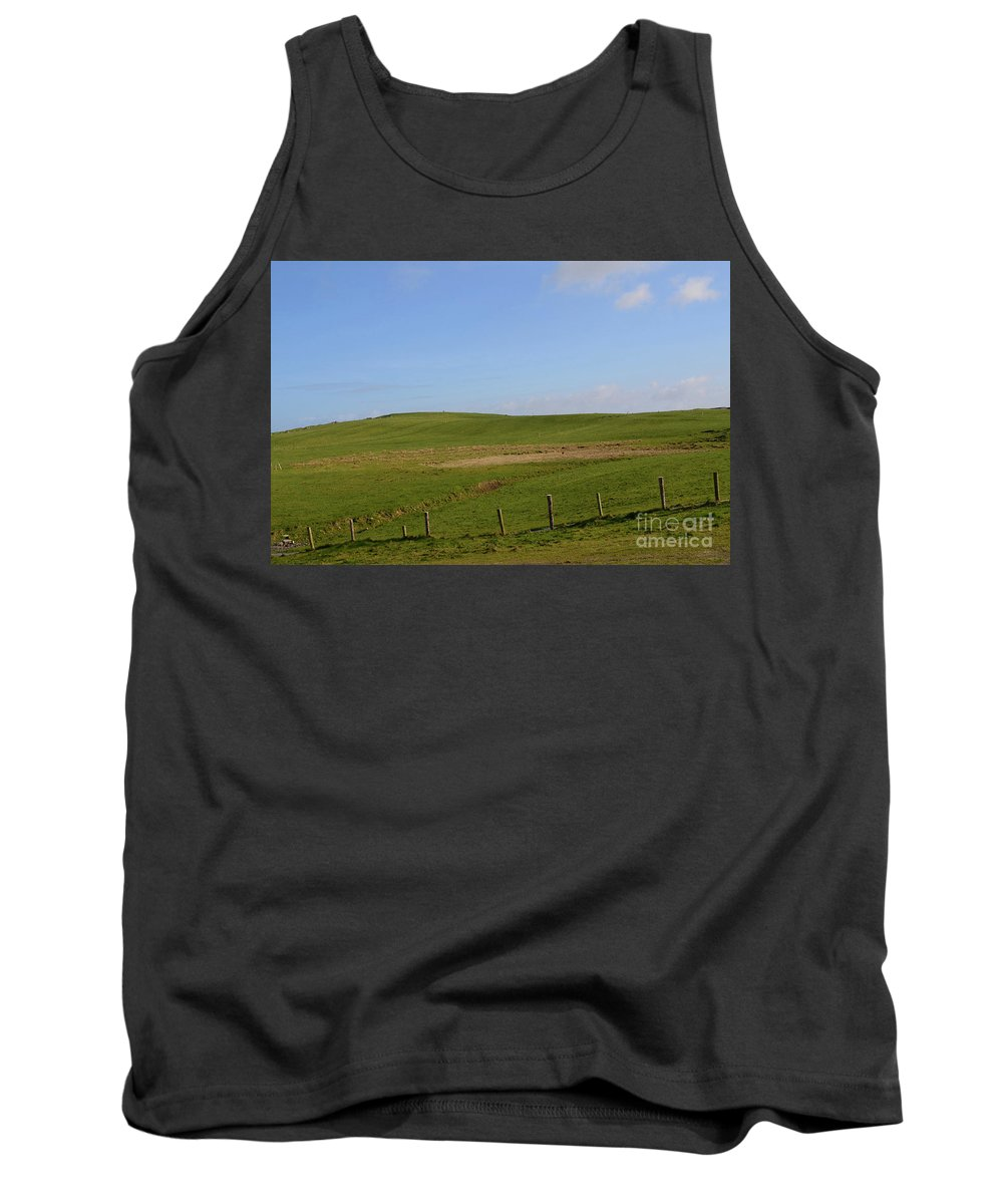 Hills Tank Top featuring the photograph Rolling Hills And Fields Along The Cliff's Of Moher by DejaVu Designs