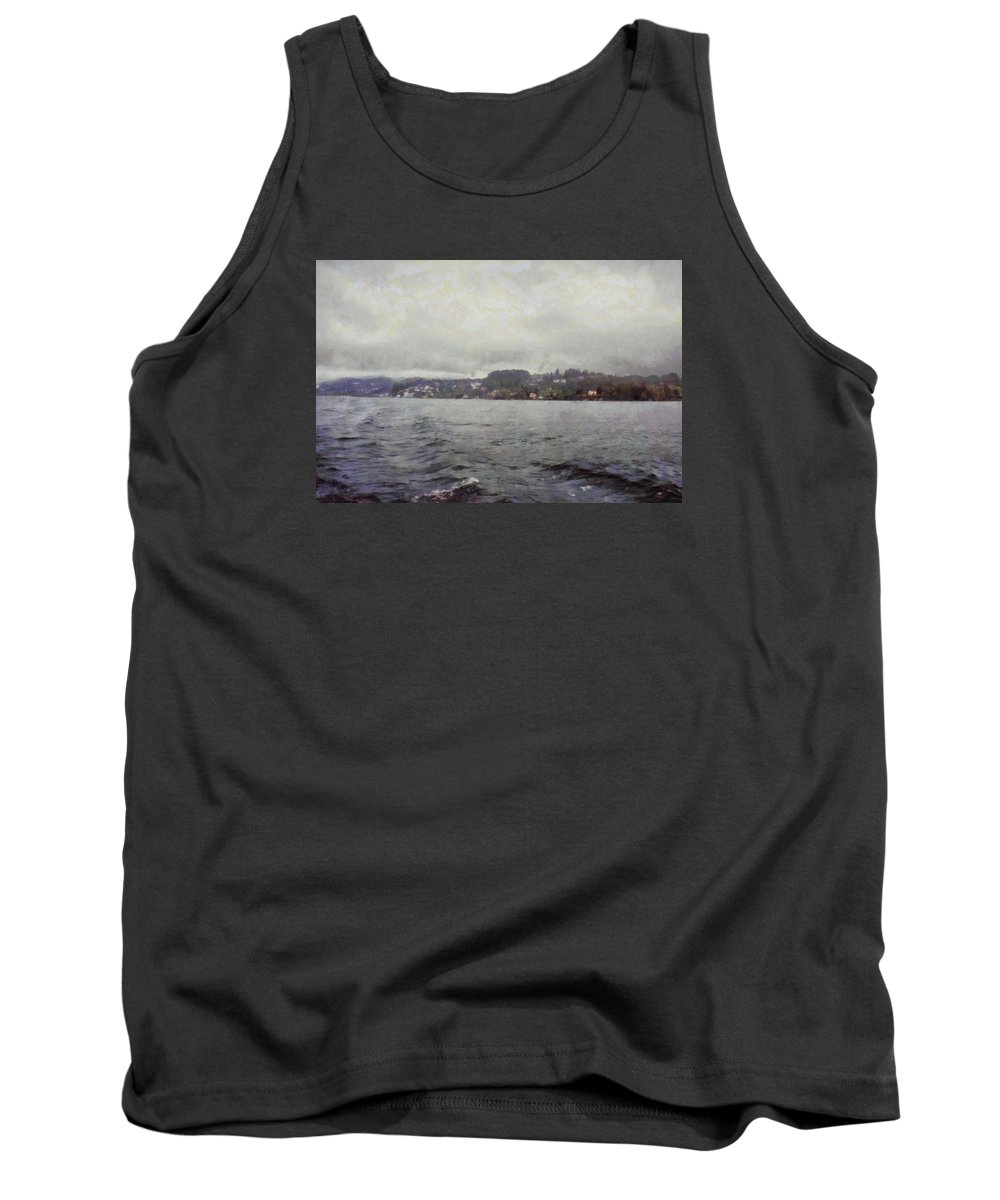 Lake Tank Top featuring the photograph Rolling Waves In A Swiss Lake by Ashish Agarwal