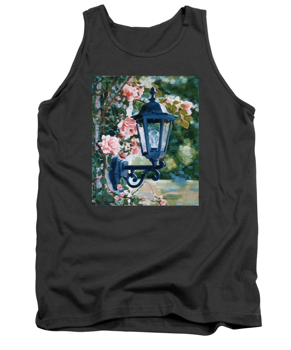 Roses Tank Top featuring the painting Romantic Fragrance by Iliyan Bozhanov