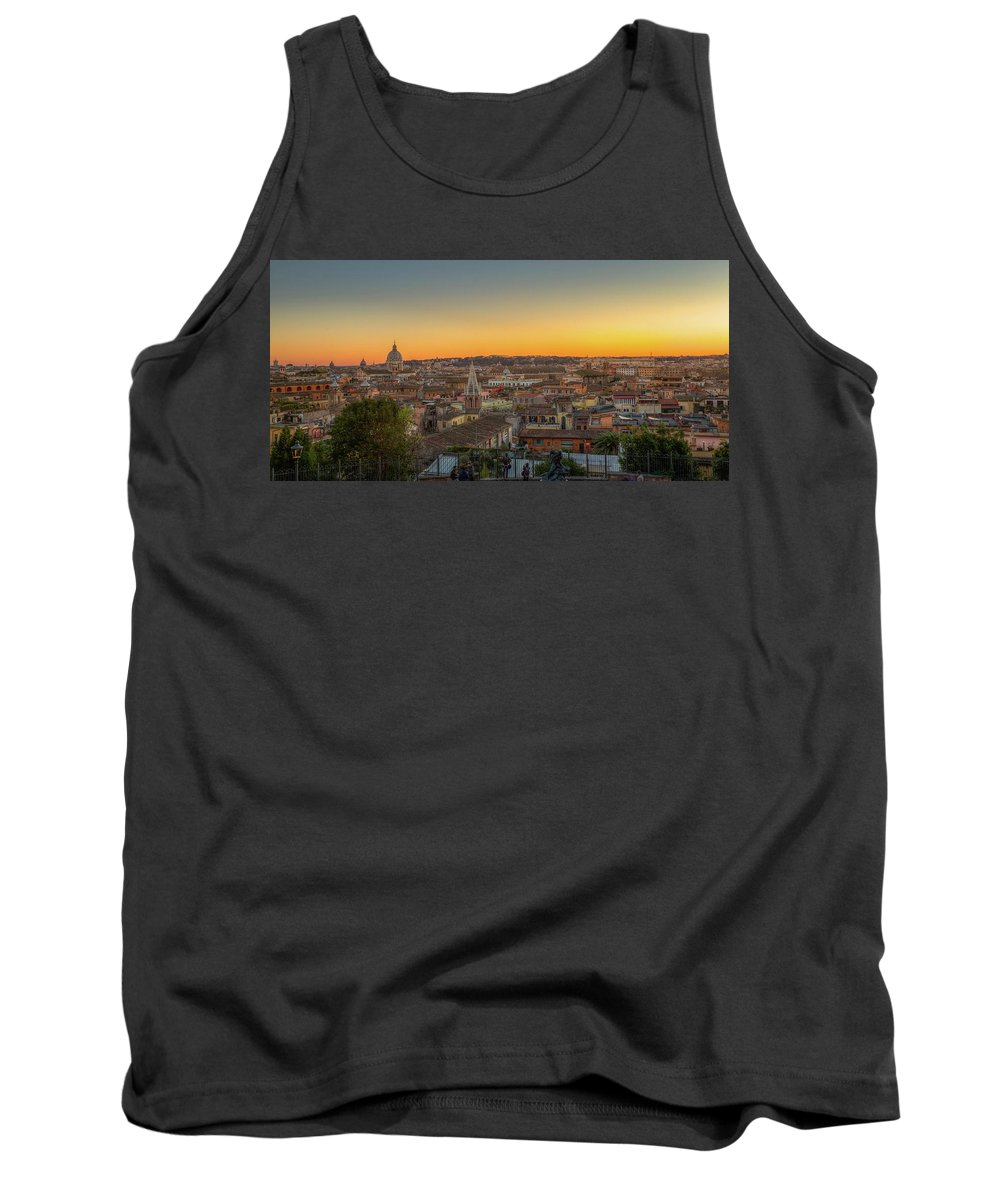 Cityscape Tank Top featuring the photograph Rome At Sunset by Mike Houghton BlueMaxPhotography