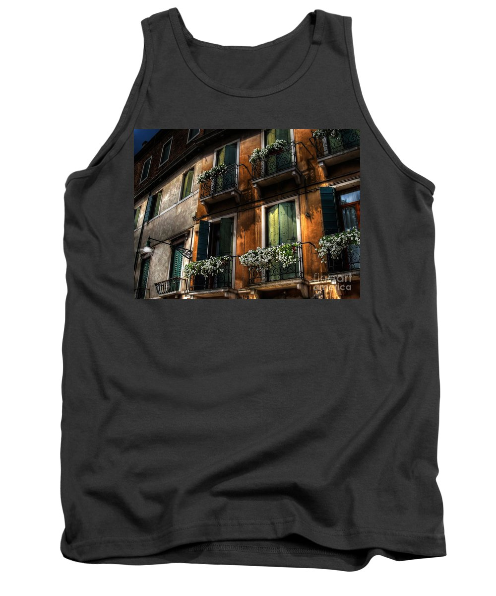 Venice Tank Top featuring the photograph Rooms With A View by Lois Bryan