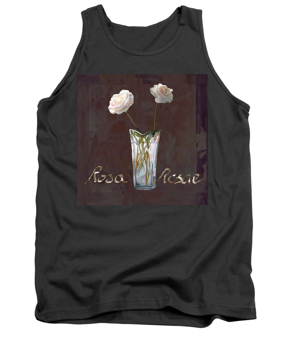 Rasa Tank Top featuring the painting Rosa Rosae by Guido Borelli