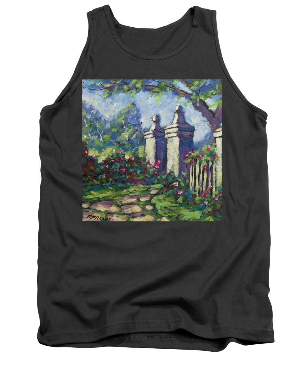 Rose Tank Top featuring the painting Rose Garden by Richard T Pranke