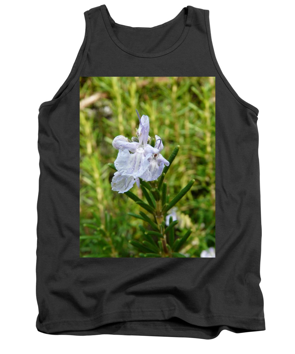 Rosemary Tank Top featuring the photograph Rosemary Bloom by Valerie Ornstein