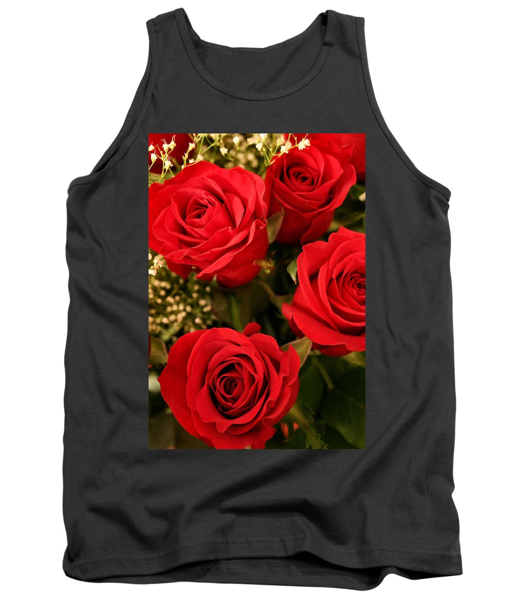 Rose Tank Top featuring the photograph Roses Are Red by Kristin Elmquist
