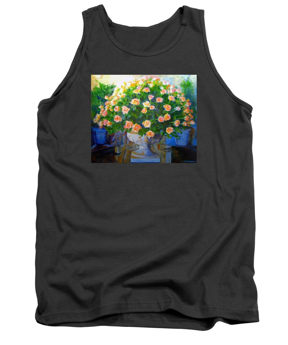 Rose Tank Top featuring the painting Roses At Table Bay by Michael Durst