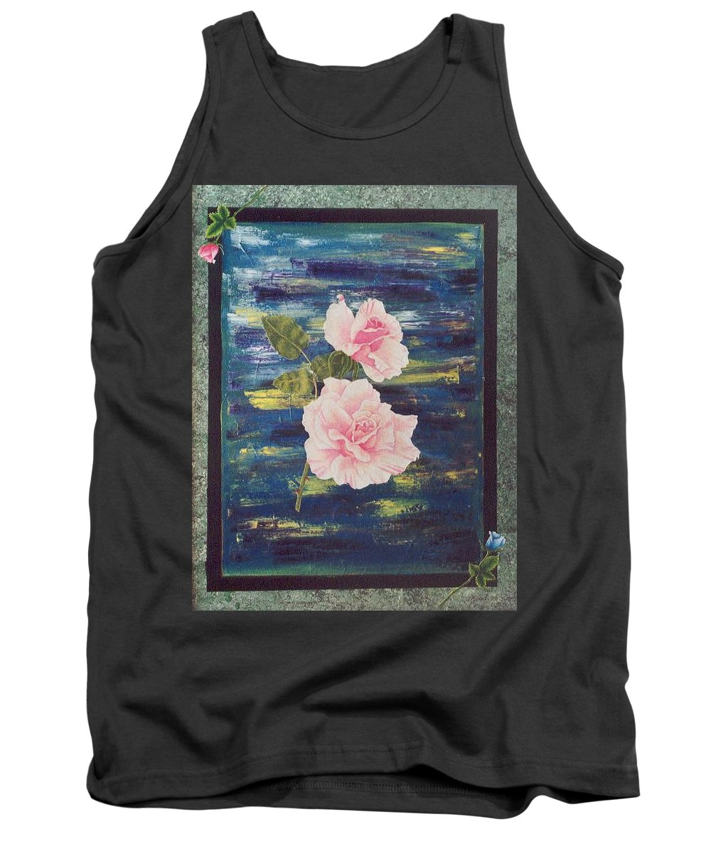 Rose Tank Top featuring the painting Roses by Micah Guenther