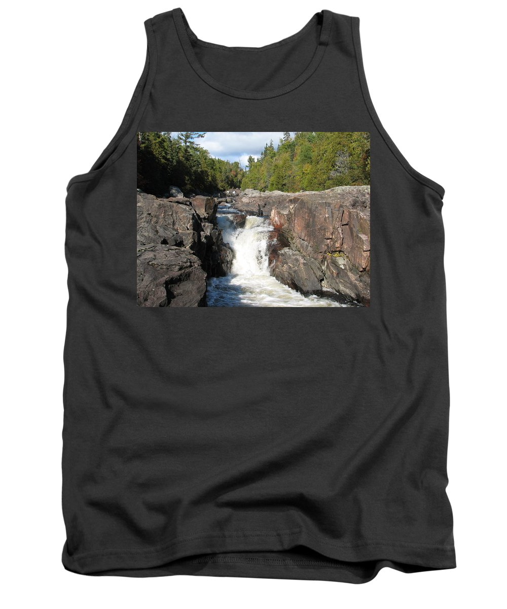 Waterfall Tank Top featuring the photograph Rosetone Falls by Kelly Mezzapelle