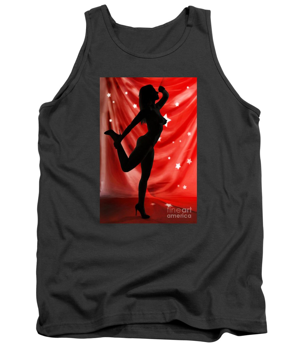 Nude Woman Tank Top featuring the photograph Rosie Nude Fine Art Print In Sensual Sexy Color 4690.02 by Kendree Miller