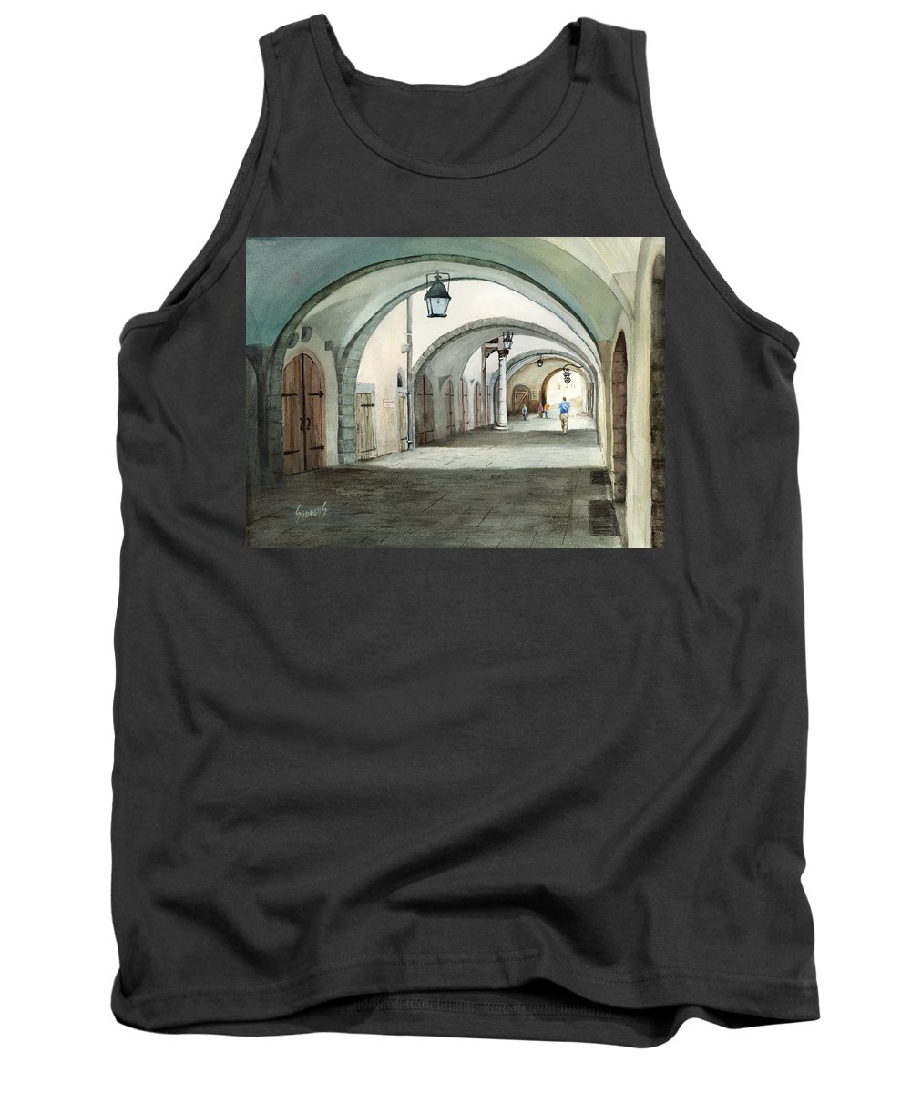 Germany Tank Top featuring the painting Rothenburg Backstreet by Sam Sidders