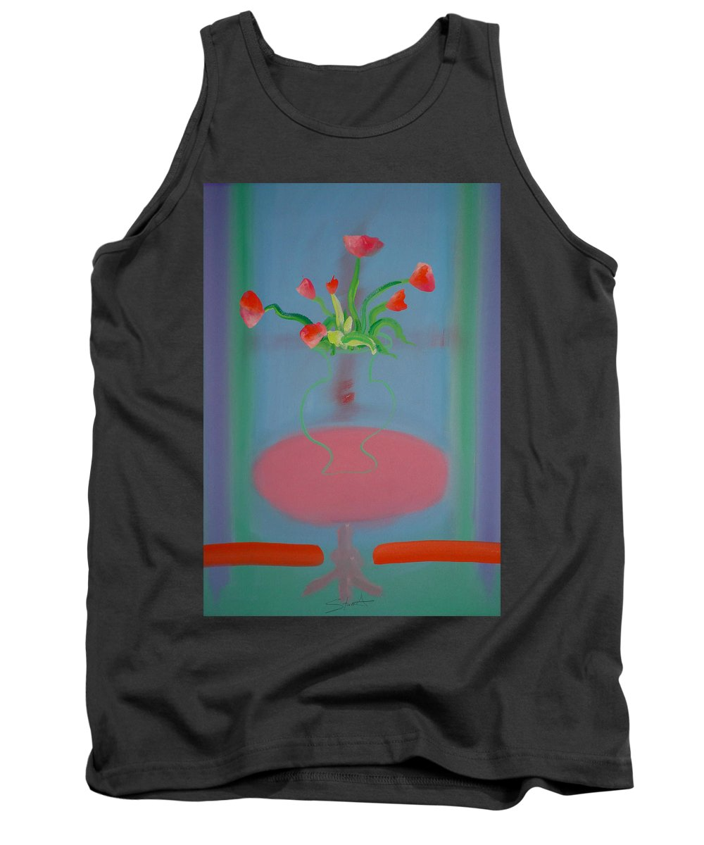 Flower Tank Top featuring the painting Rouseau Flowers by Charles Stuart