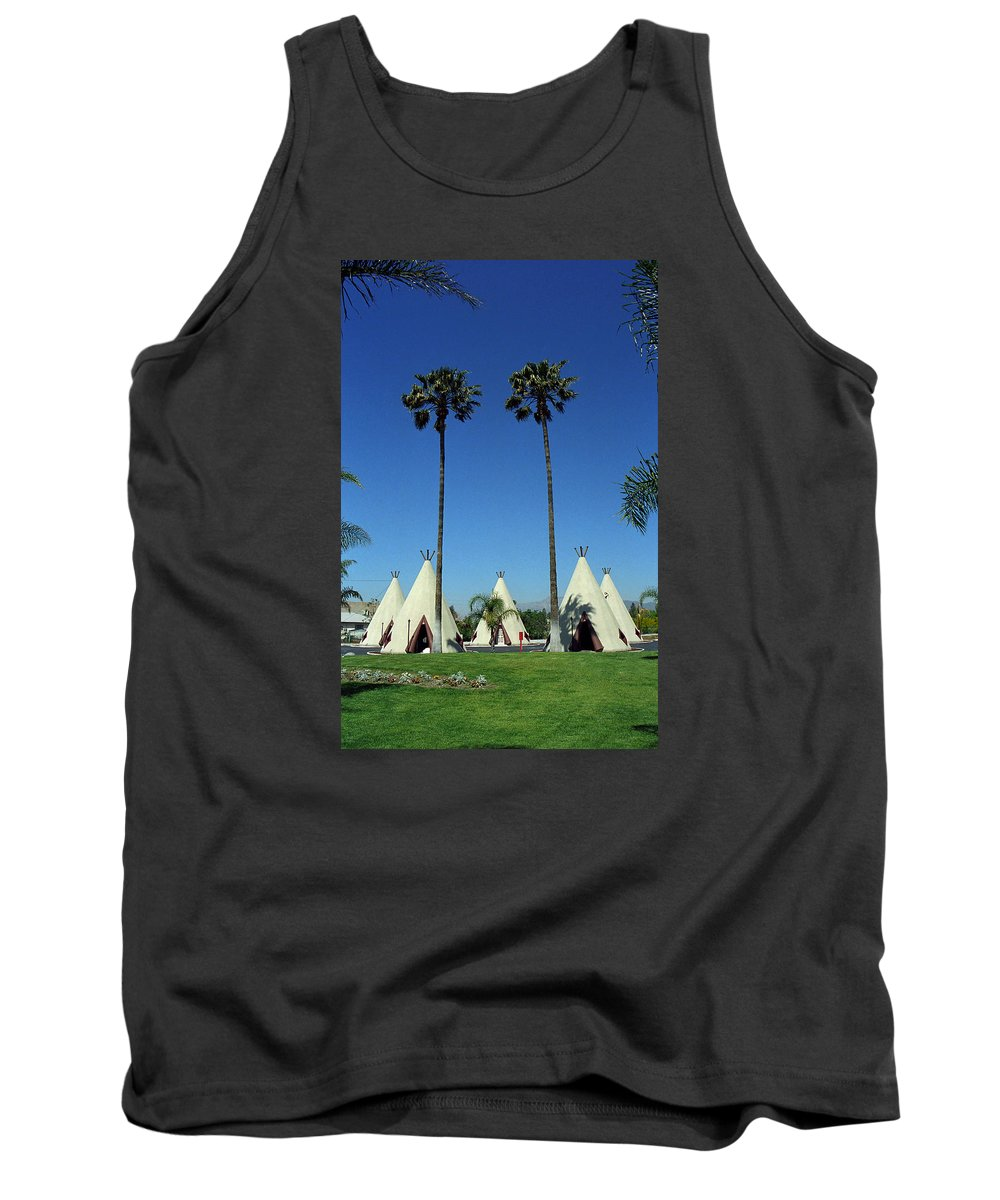 66 Tank Top featuring the photograph Route 66 - Wigwam Motel Ca by Frank Romeo