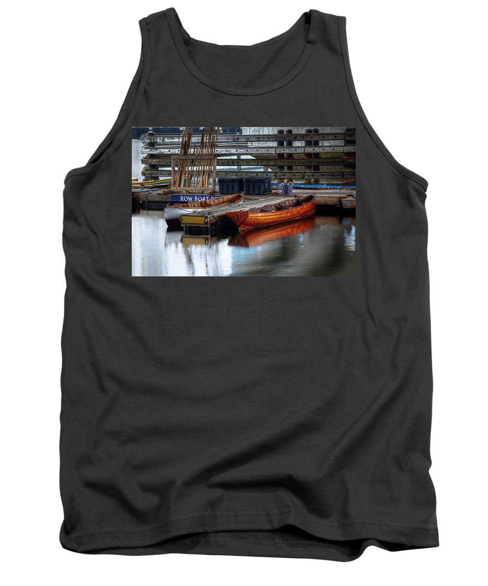Row Tank Top featuring the photograph Row Boat Rental by Rick Mosher