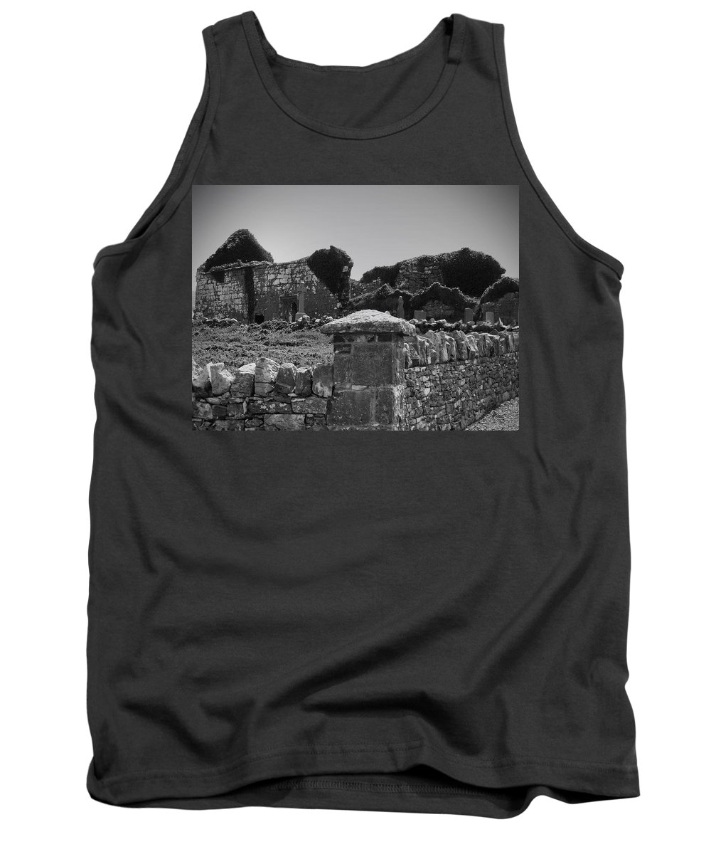 Irish Tank Top featuring the photograph Ruins In The Burren County Clare Ireland by Teresa Mucha