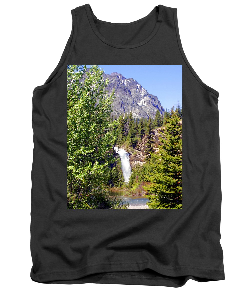 Waterfalls Tank Top featuring the photograph Running Eagle Falls Glacier National Park by Marty Koch