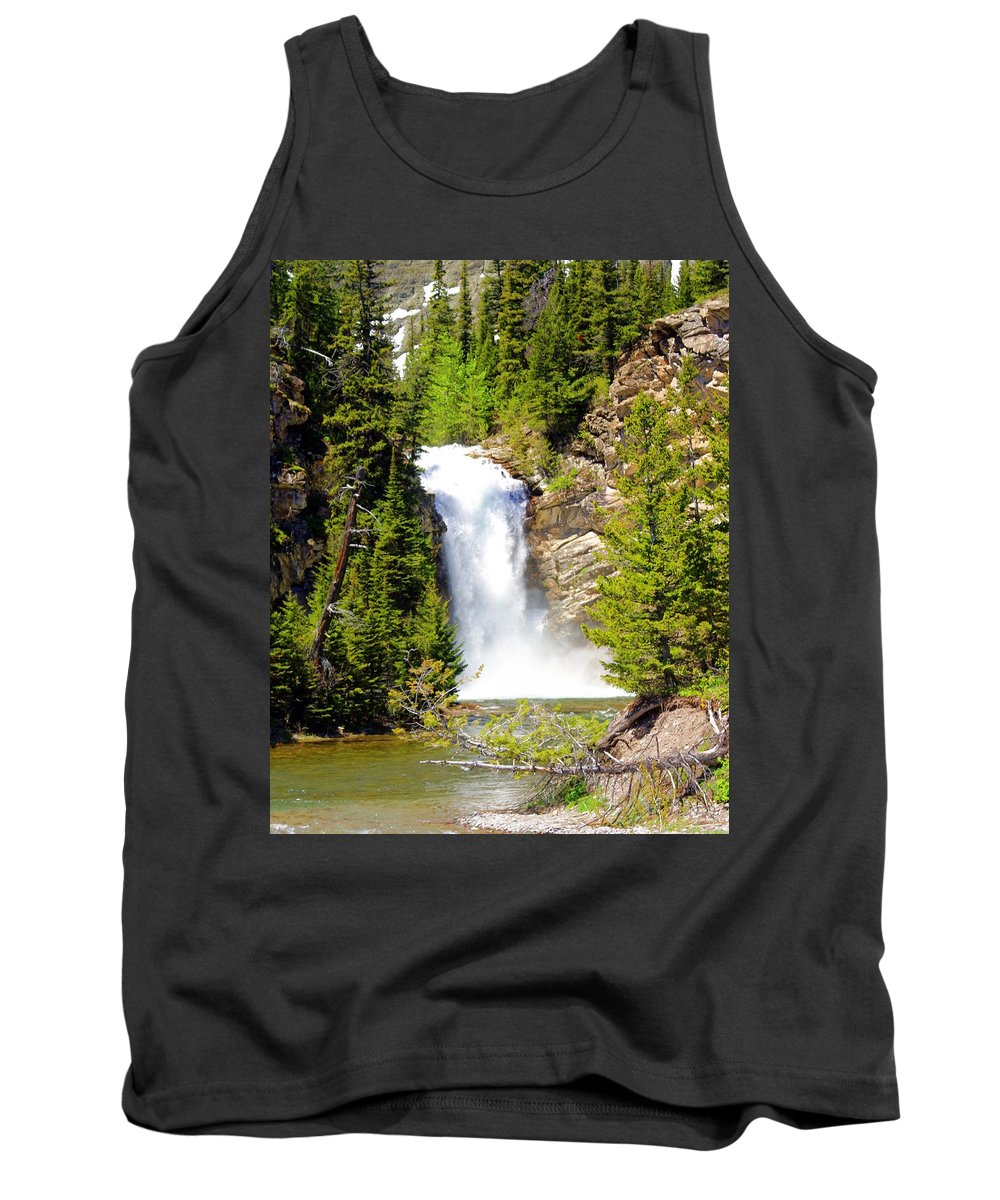 Waterfalls Tank Top featuring the photograph Running Eagle Falls by Marty Koch