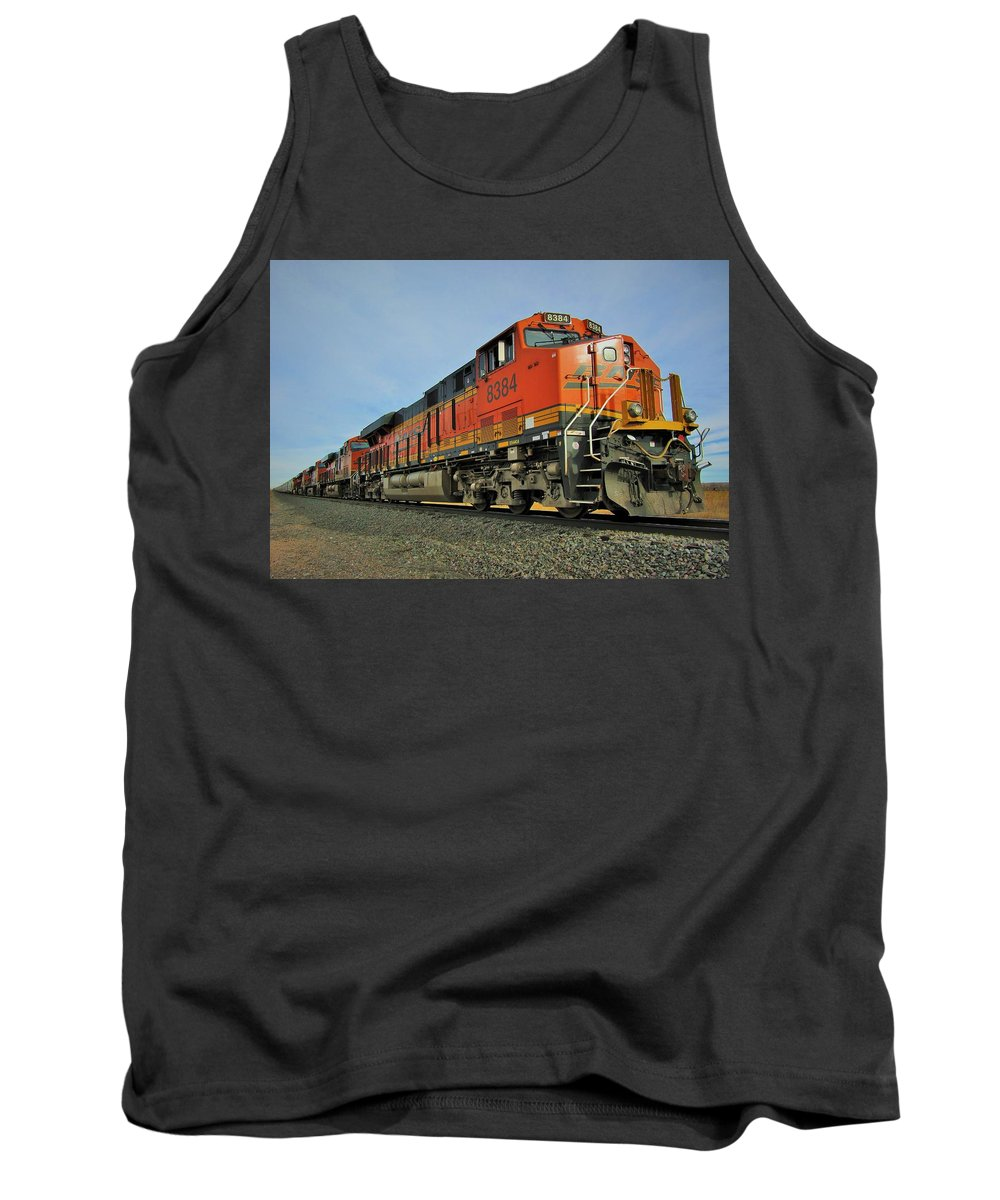 Bnsf Tank Top featuring the photograph Running South by Carl Miller