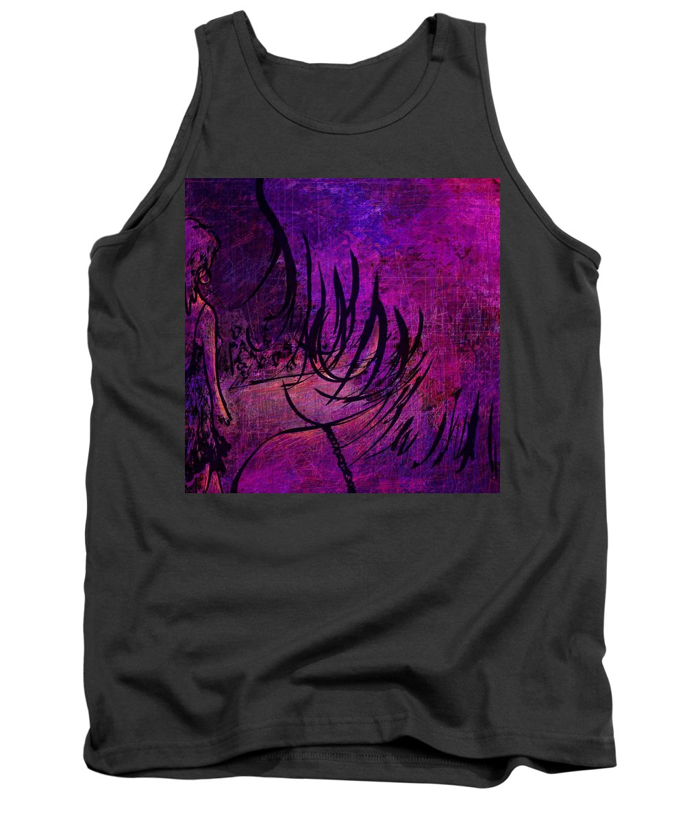 Abstract Tank Top featuring the digital art Runway by Rachel Christine Nowicki