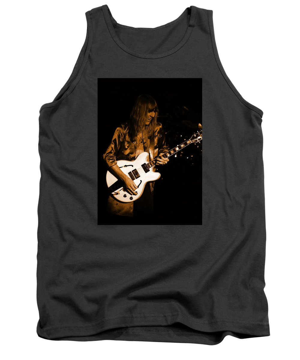 Rock Art Tank Top featuring the photograph Rush 77 #17 Enhanced In Amber by Ben Upham