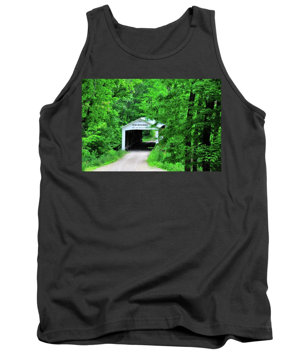 Bridge Tank Top featuring the photograph Rush Creek by David Arment