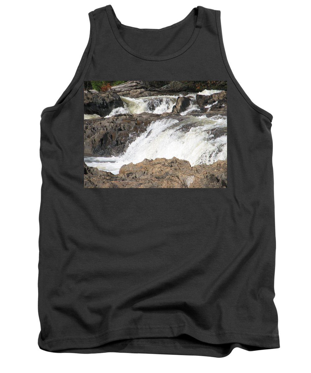 Waterfall Tank Top featuring the photograph Rushing by Kelly Mezzapelle